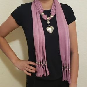 Accessories - 2 jeweled scarves set